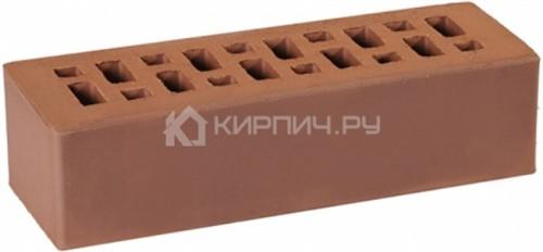 Кирпич облицовочный темно-коричневый одинарный гладкий М-175 ГКЗ