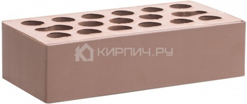 Кирпич для фасада терракот одинарный гладкий М-150 Керма