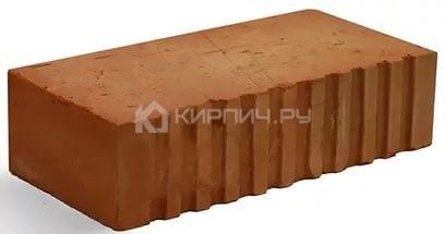 Кирпич керамический полнотелый одинарный М-300 рифленый Каширский кирпич