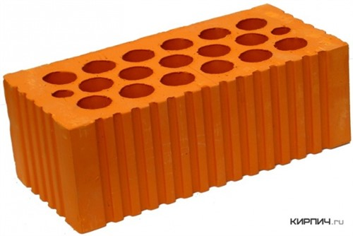 Кирпич керамический щелевой двойной М-200 рифленый Каширский кирпич цена