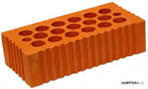 Кирпич керамический щелевой одинарный М-150 рифленый Каширский кирпич цена