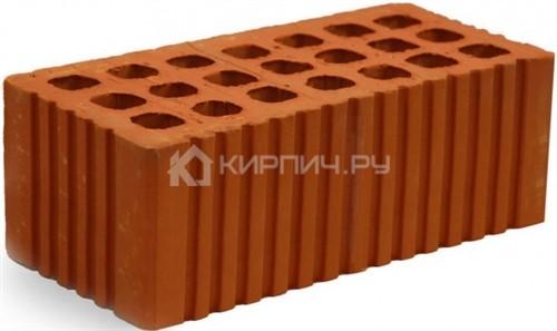 Кирпич строительный щелевой полуторный М-150 рифленый Михневская керамика