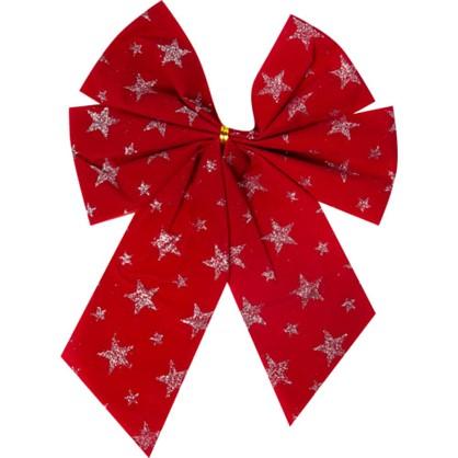 Бант Новогодний Красный Со Звездами цена