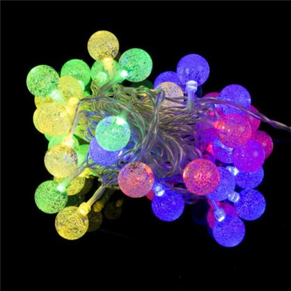 Гирлянда Шарики 40 LED ламп для помещения цена