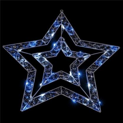Гирлянда Звезда синяя 36 ламп 57 см для улицы цена