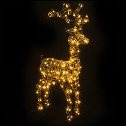 Гирлянда-фигура Олень 160 LED ламп 98 см коричневый цвет для улицы цена