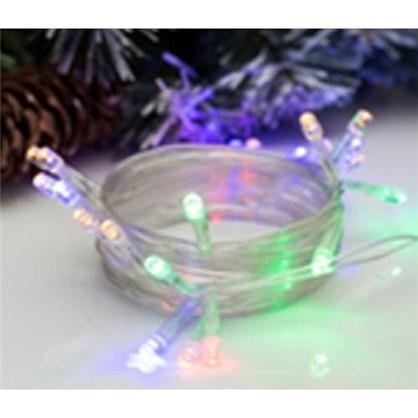 Светодиодная гирлянда 20 ламп 2.5 м цвет мультиколор