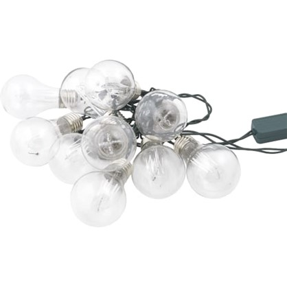 Светодиодная гирлянда Фестоны для дома 10 ламп 1.8 м цвет тёплый белый цена
