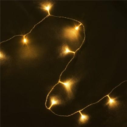 Светодиодная гирлянда Нить для улицы 48 ламп 5 м цвет тёплый белый цена