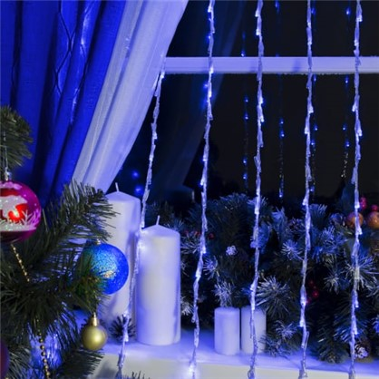 Светодиодная гирлянда Водопад для дома 250 ламп 2x2 м цвет синий