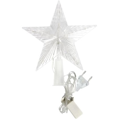 Светодиодная гирлянда Звезда на ёлку для дома 10 ламп 17 см цена