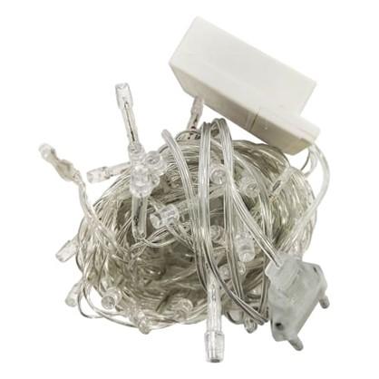 Светодиодная гирлянда для дома 50 ламп цвет холодный белый цена