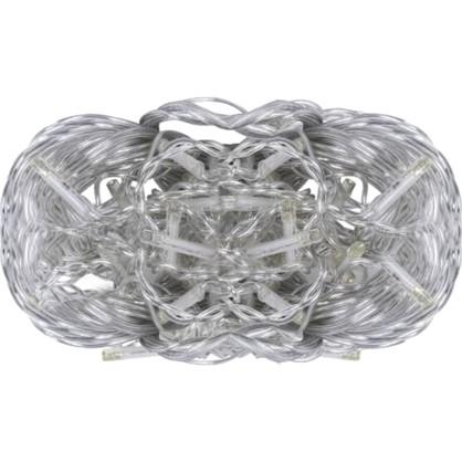 Светодиодная гирлянда для улицы Нить 48 ламп свет тёплый белый.