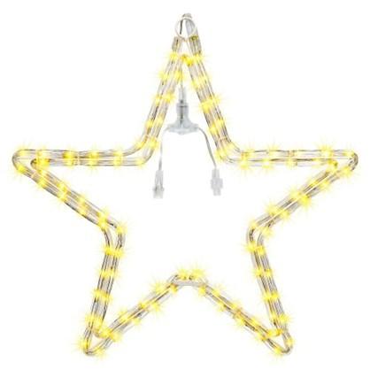 Светодиодная гирлянда для улицы Звезда 96 ламп свет тёплый белый