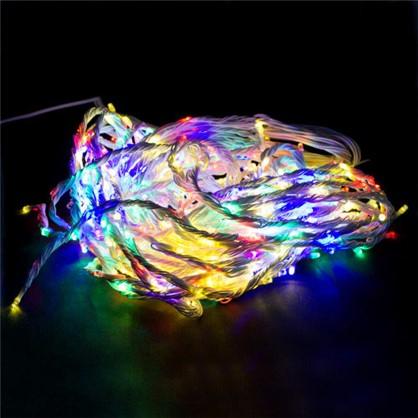 Гирлянда-занавес Водопад 480 ламп мультиколор для улицы цена