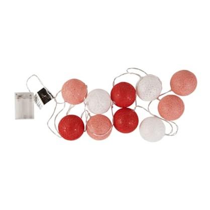 Гирлянда светодиодная Hataru  цвет бело-красный цена