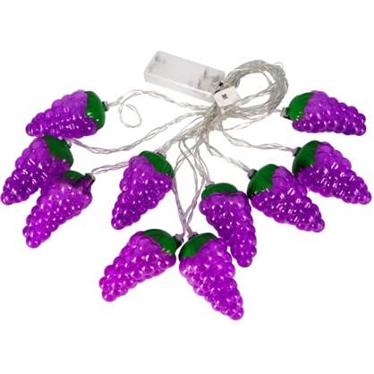 Гирлянда светодиодная Uniel Виноград на батарейках 4 м цвет фиолетовый цена