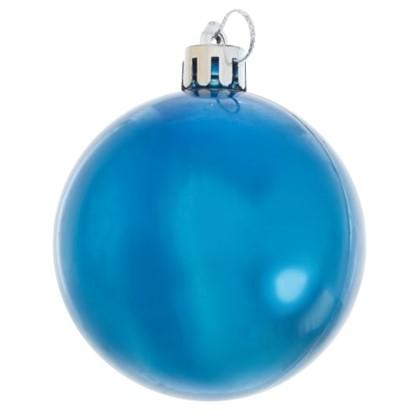 Набор Елочных Шаров 3 Шт 6 См Цвет Синий цена