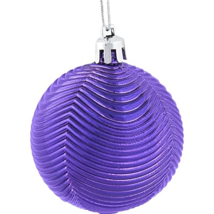 Набор Елочных Шаров 6 См Цвет Фиолетовый 6 Шт. цена