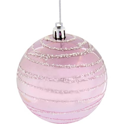 Шар Елочный 7.8 См Пластик Цвет Розовый цена