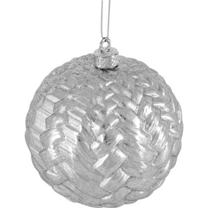 Шар Елочный 9.8 См Пластик Цвет Серебро цена