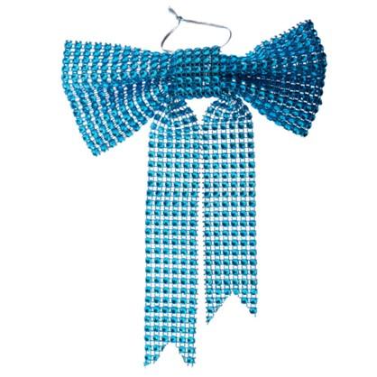 Украшение Декоративное Бантик Голубой