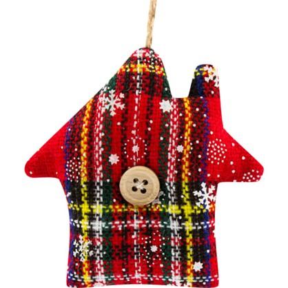 Украшение Декоративное Подвесное Домик Текстиль