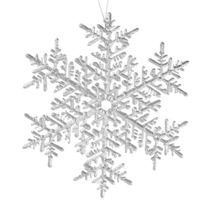 Украшение Новогоднее Снежинка Большая Пластик Цвет Серебро Матовое цена