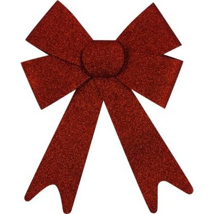 Украшение Елочное Бант Из Парчи 30 См Текстиль Цвет Красный