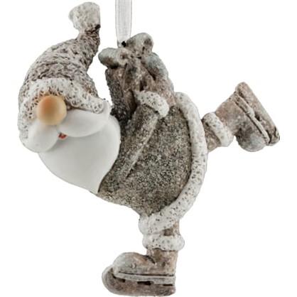 Украшение Елочное Erichkrause Decor Санта На Коньках 16 См Пластик цена