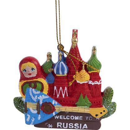 Украшение Елочное Кремль И Матрешка 8 См цена