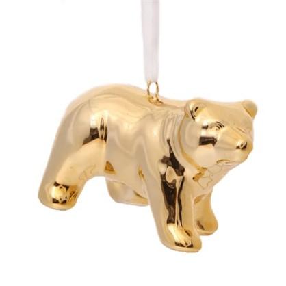 Украшение Елочное Медвежонок 7 См Керамика Цвет Золотой