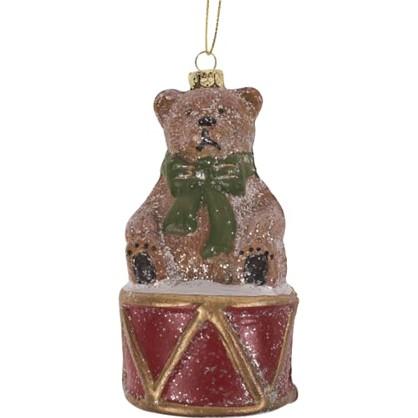 Украшение Елочное Мишка На Барабане 11.5 См цена