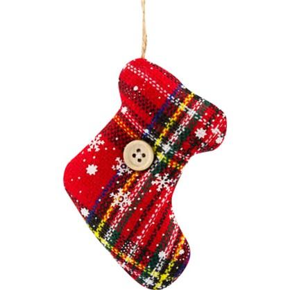 Украшение Елочное Носок Рождественский Текстиль цена