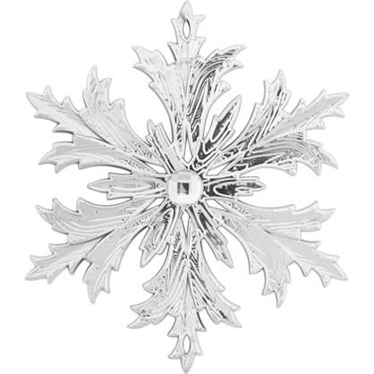 Украшение Елочное Снежинка Кристалл С Камнем 11 См Цвет Серебристый цена