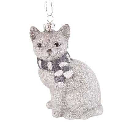 Украшение Елочное Снежная Кошка 10 См цена