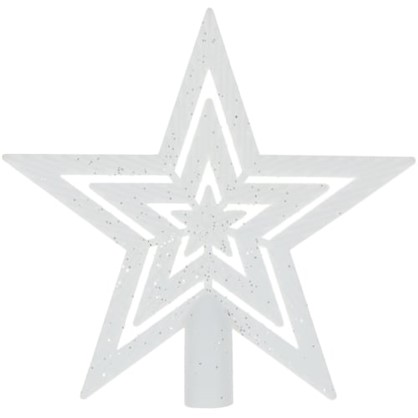 Верхушка Для Елки Звезда 18 См Цвет Белый