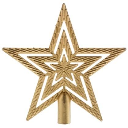 Верхушка Для Елки Звезда 18 См Цвет Золотой цена