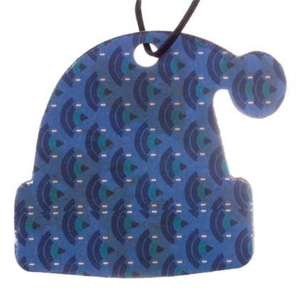 Елочное Украшение Шапка 9x9 См Дерево Цвет Голубой цена