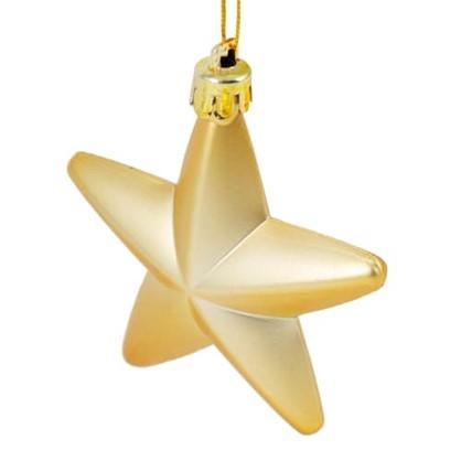 Елочное Украшение Звезда 8 См 3 Шт Цвет Золотой цена