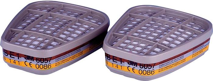 Комбинированный фильтр от газов и паров 3M 6057 ABE1 1 пара