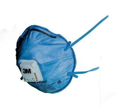 Полумаска с дополнительной защитой от запахов кислых газов 9926Р FFP2 NR D 10 шт.